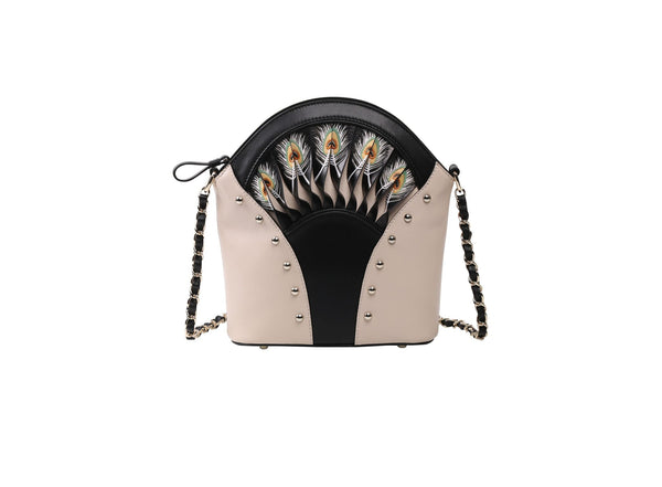 Feather White Shoulder Bag