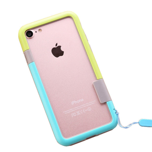 Color Combo iPhone 7Plus Frame Case (Green & Blue)
