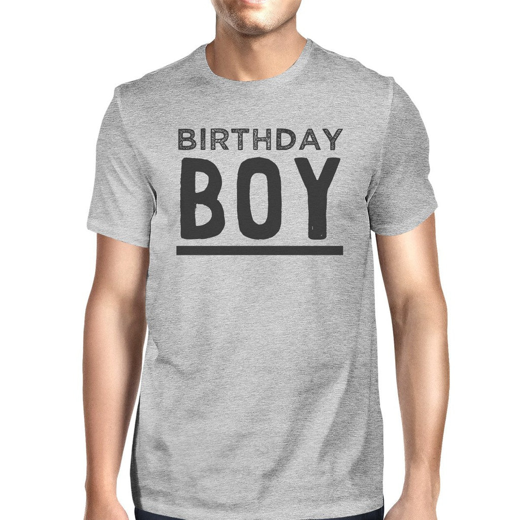 Birthday Boy Mens Grey Shirt