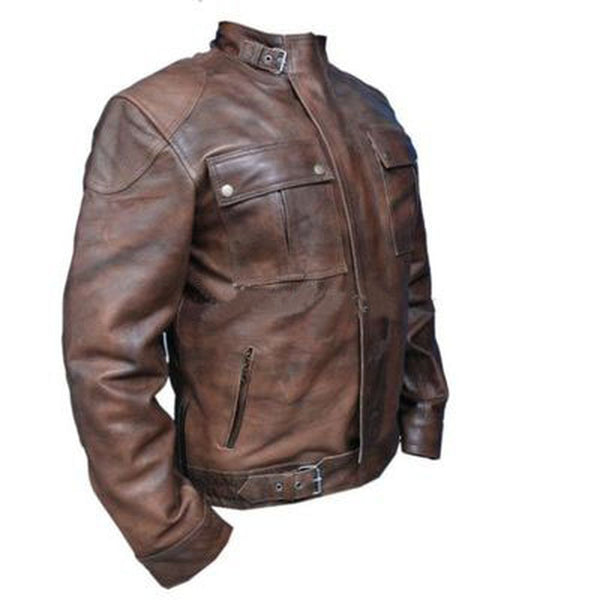 Men Wanted Brown Leather Jacket
