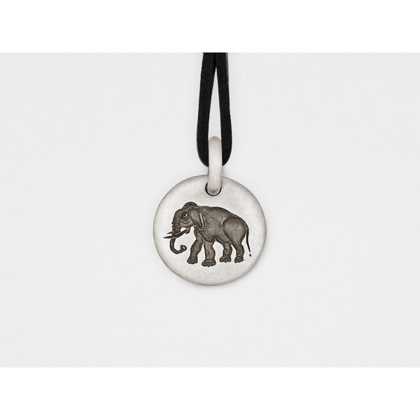Elephant Charm Pendant in Sterling Silver