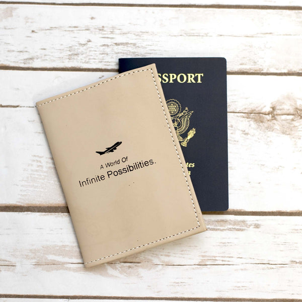 Infinite possibilities Genuine Leather Passport Cover