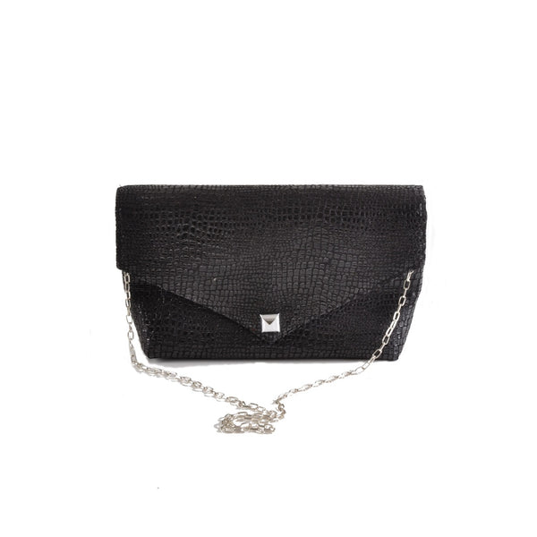 Boa Black envelope clutch