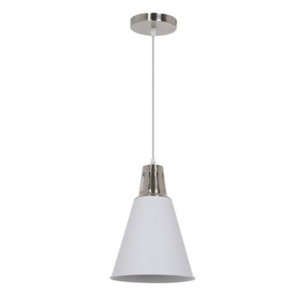 Ohr Lighting® Strutt Pendant, White/Nickel (OH132)