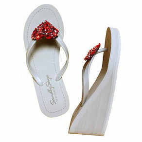 Red Chelsea Heart - High Wedge