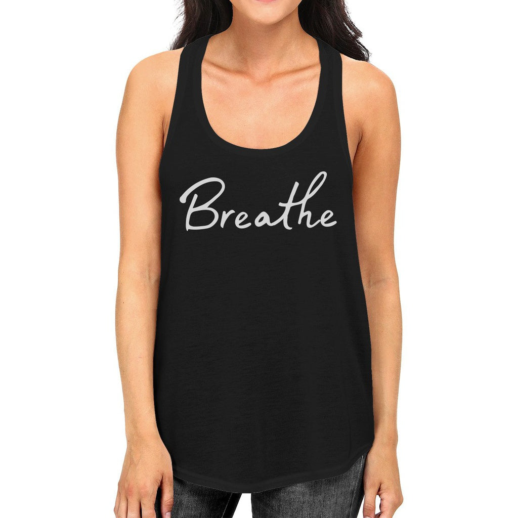 Breath Tank Top Work Out Sleeveless Shirt Cute Yoga Racerback