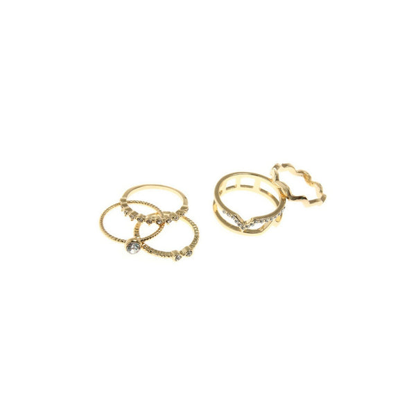 5 Piece Mid Knuckle Ring Set