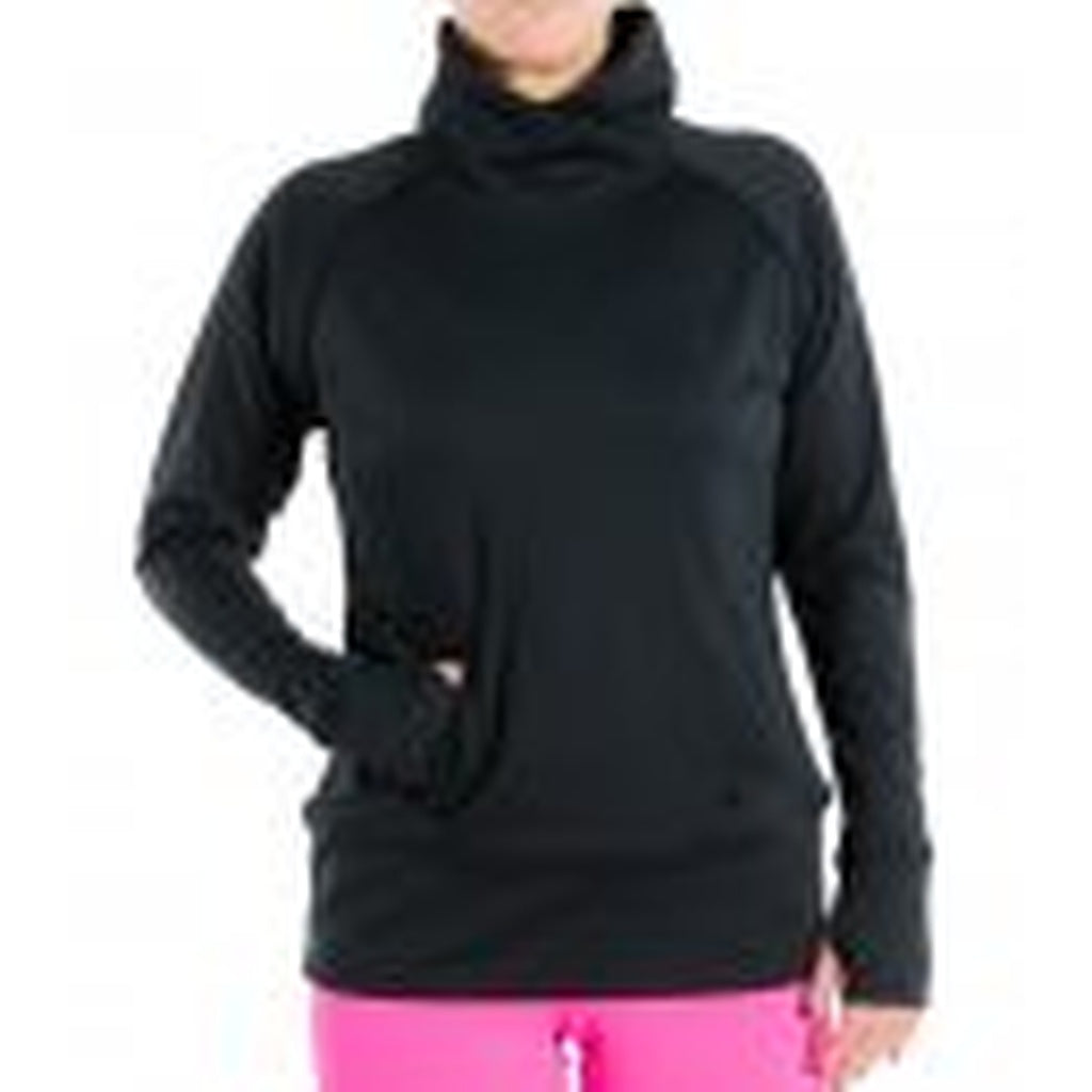 Black Propel Funnel Neck Pullover