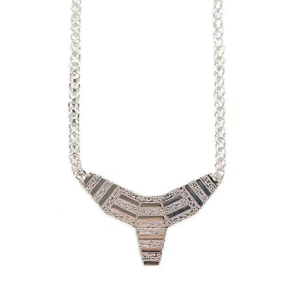 small totem necklace - silver