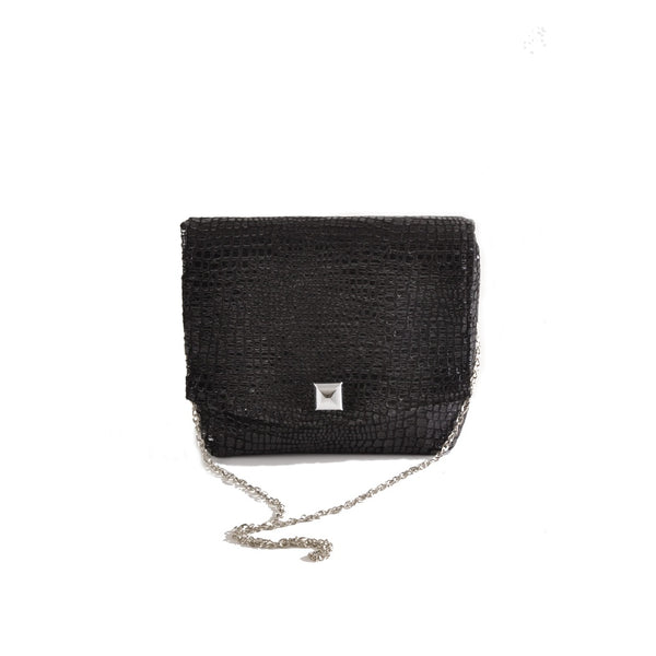 Boa Black square clutch