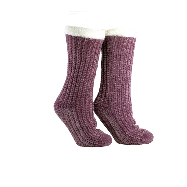 "Women's Shea Butter and Rose Oil Infused ""Velvet Vision"" Slipper Socks"