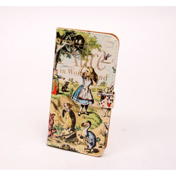 Alice Book phone flip case wallet for iPhone and Samsung