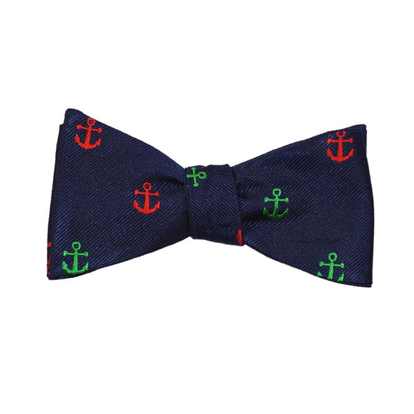 Anchor Bow Tie - Port & Starboard, Woven Silk