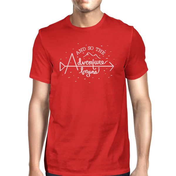 And So The Adventure Begins Mens Red Shirt