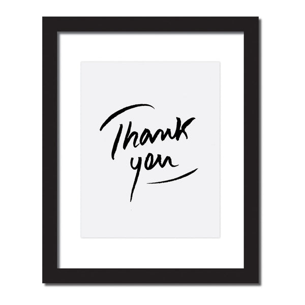 Inspirational print 'Thank you'