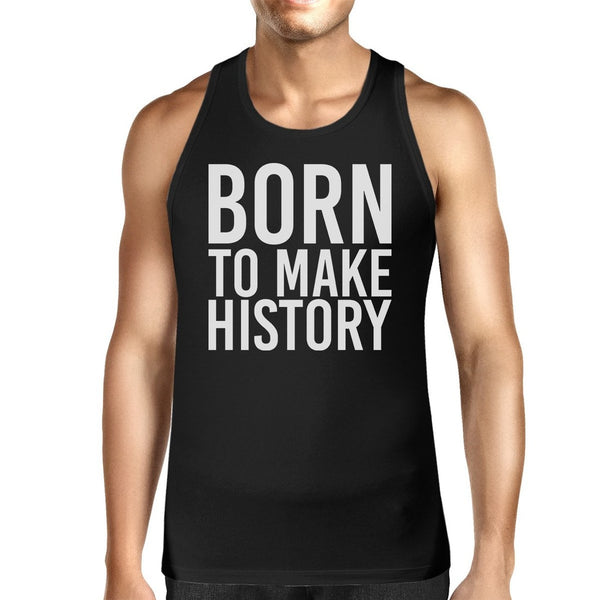 Born To Make history Mens Sleeveless Black Tank Top Yuri on Ice