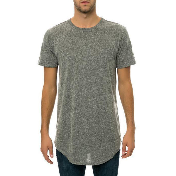 CB Tall Scallop Bottom Tee (Grey)