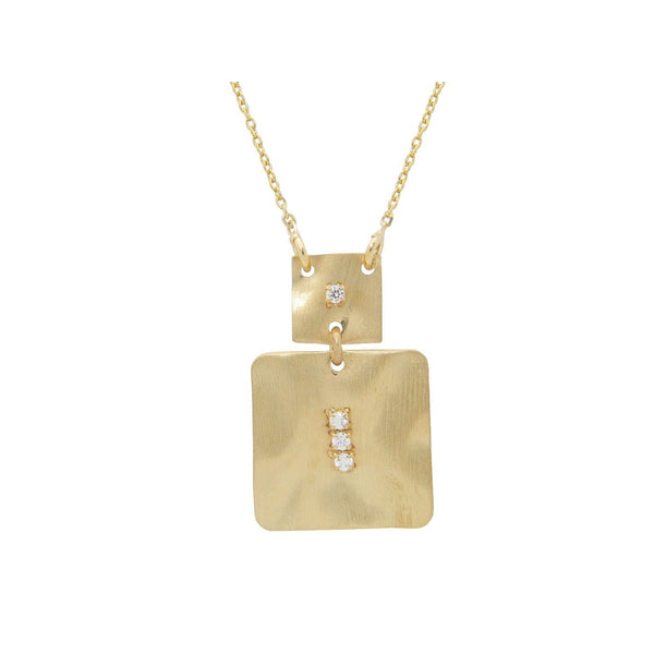 Golden Italian Squares Necklace