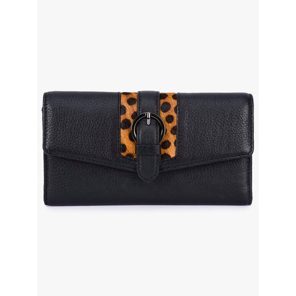 Phive Rivers Women's Black Leather Wallet
