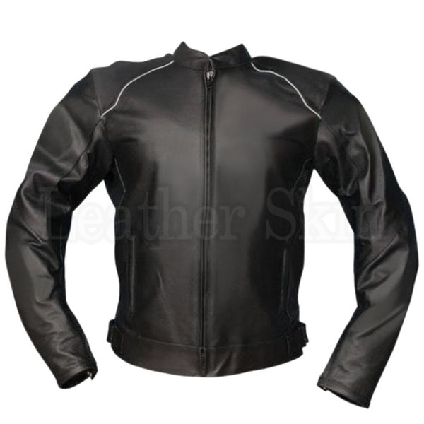 Black Jacket Biker Leather Jacket
