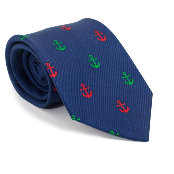 Anchor Necktie - Port & Starboard, Printed Silk