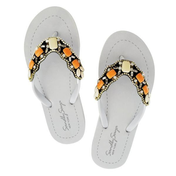Orange Sunset Park - Flat Sandal