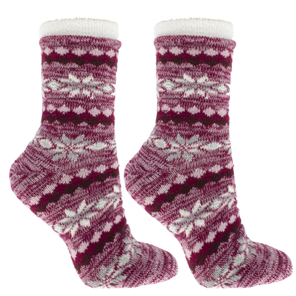Women's Double Layer Aspen Eucalyptus Mint and Shea Butter Infused Slipper Socks Gift