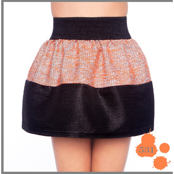 BLACK & ORANGE SKIRT MADNESS