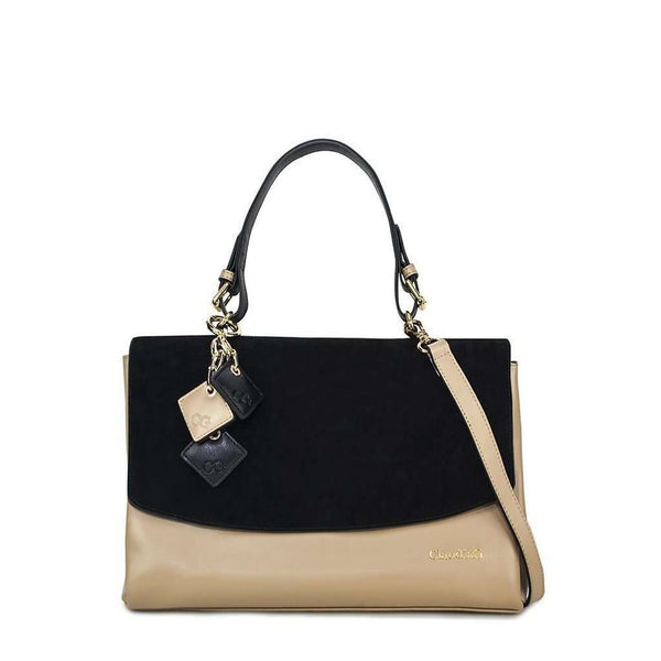 Simonetta Handbag- Midnight Black / Tan