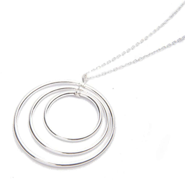Vitru Sterling Silver Circles Necklace