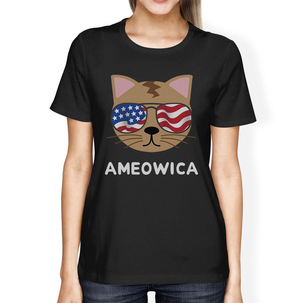 Ameowica Cute Womens Short Sleeve T-Shirt Gift Ideas For Cat Lovers