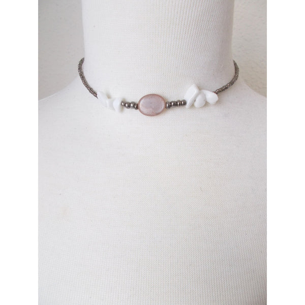 8726JN.a - Shadow Choker in Pink