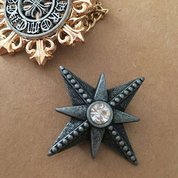 Vintage Style Grey Star Pin