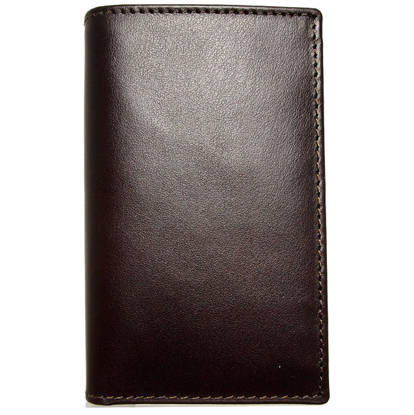 Buffed Leather Mini Bill Fold Brown
