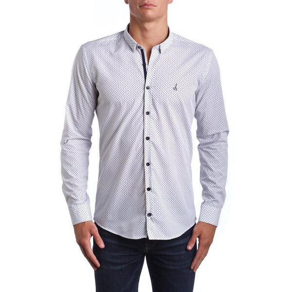Americana Leaf Slim Fit Dress Shirt (Embroidered Logo)