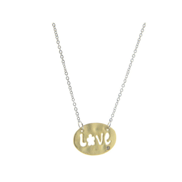 Hammered Gold Love Cut-Out