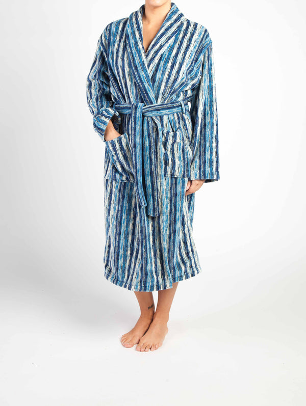 Blue Perth Bath Robe