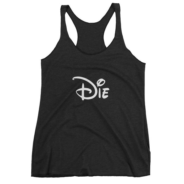 Die Cartoon Comic Mouse Typography  Racerback Tank Top