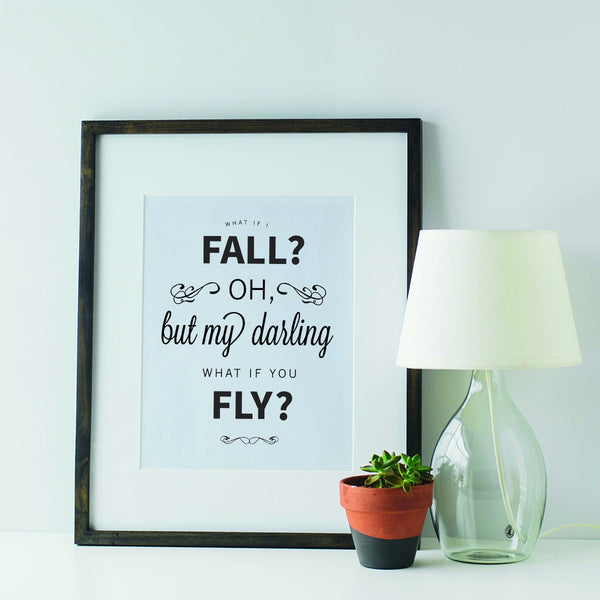 'What if I Fall' Motivational Poster