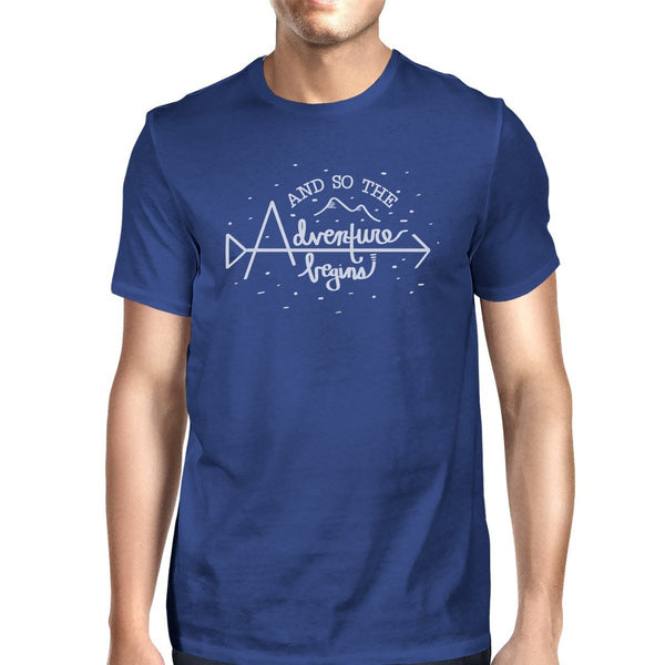 And So The Adventure Begins Mens Royal Blue Shirt