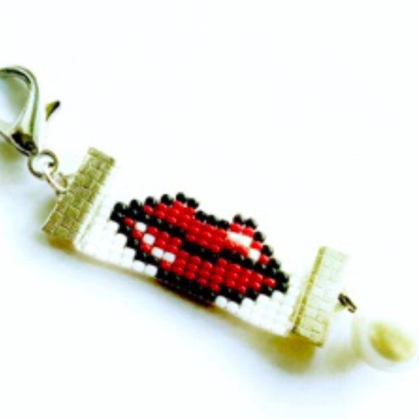 """Red Lips Always Lie"" Purse Charm"