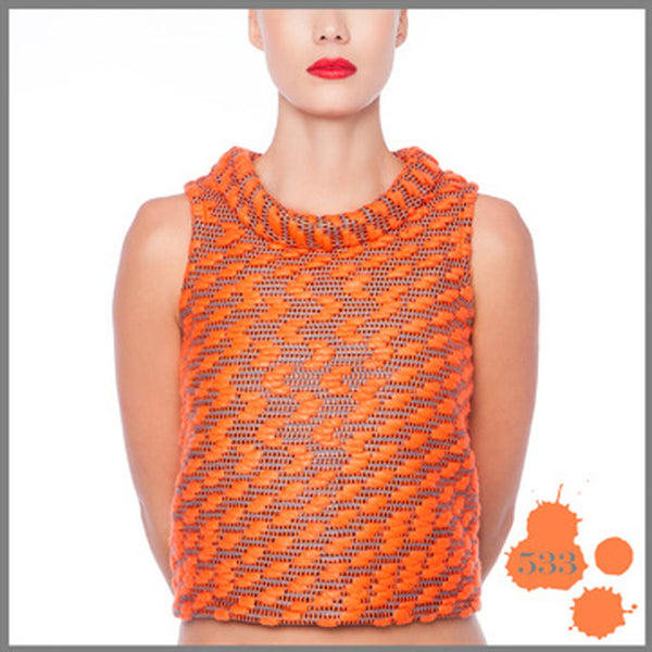 ORANGE WOOL JERSEY MADNESS