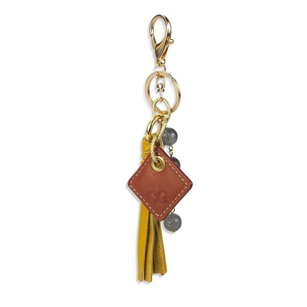 Lucca Bag Charm- Yellow