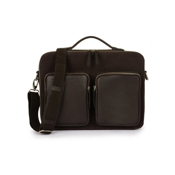 Phive Rivers Men's Canvas Messenger Bag (Brown_PRM1295)