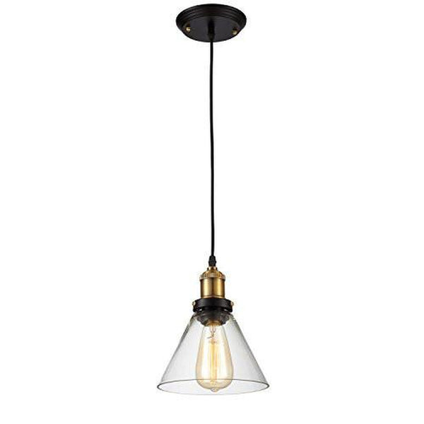 Edison Vintage Pendant Light Fixture - Bulb Included, Clear/Antique Brass