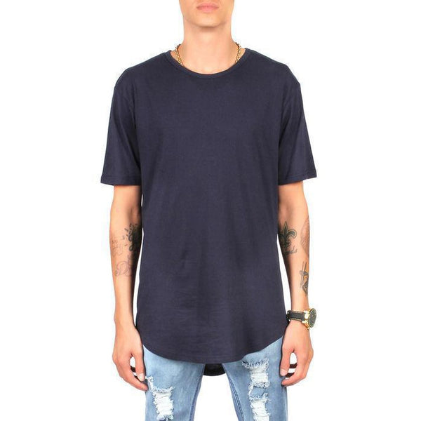 CB Tall Scallop Bottom Tee (Navy)