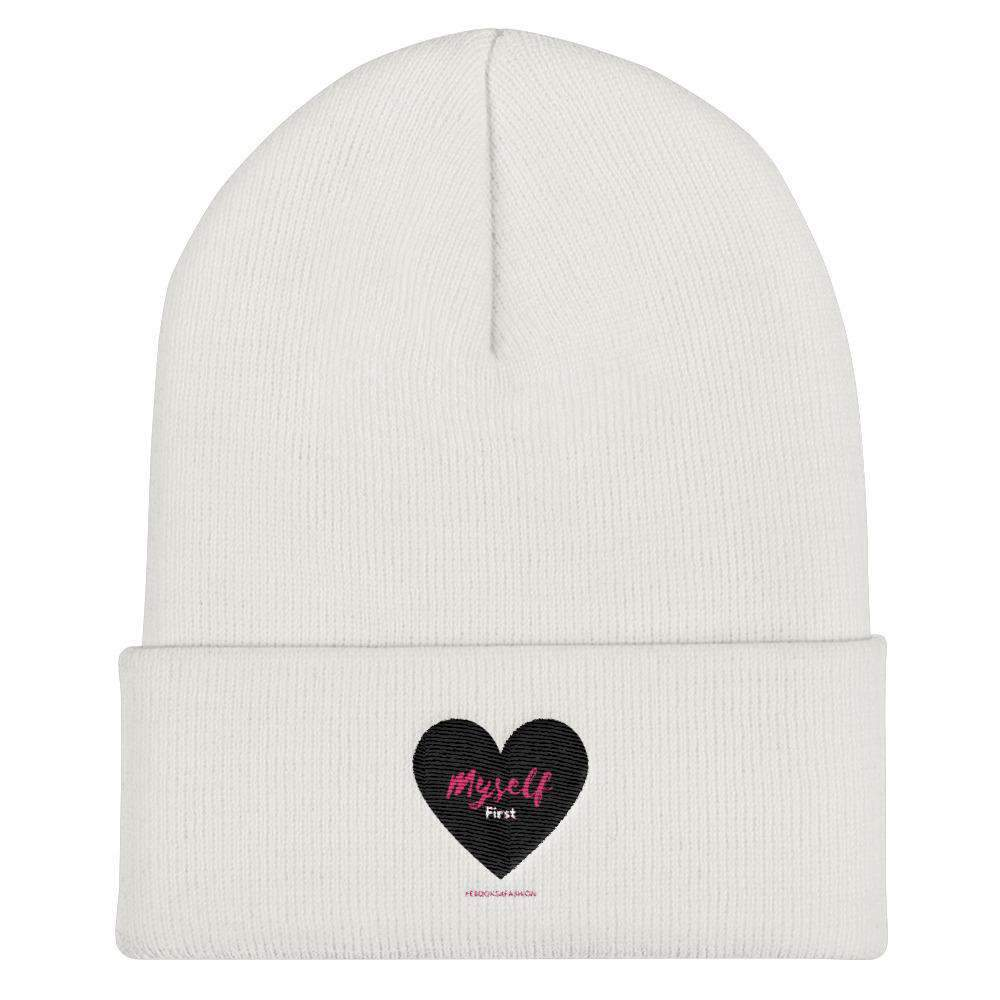 Love Myself First - Black Heart - Cuffed Beanie in 4 Colors