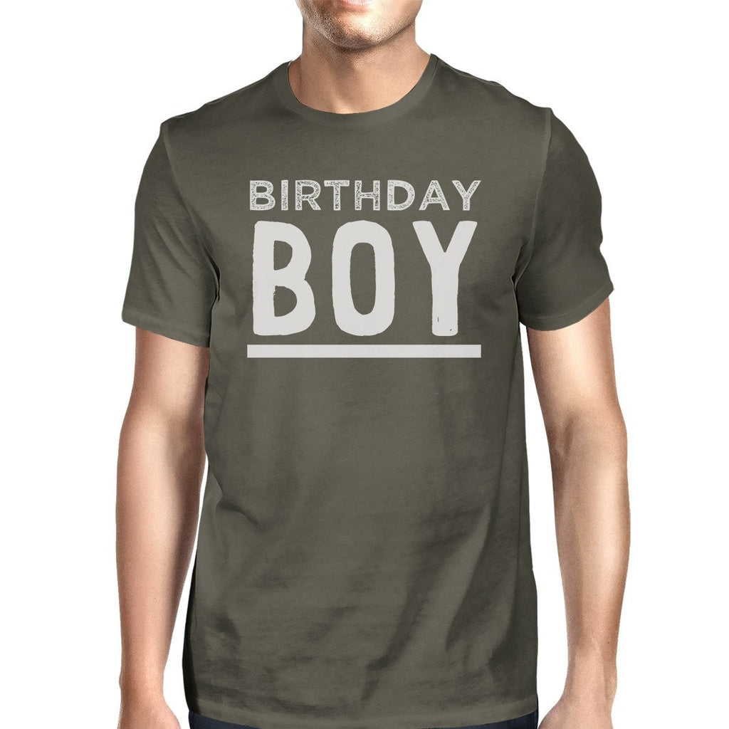 Birthday Boy Mens Dark Grey Shirt