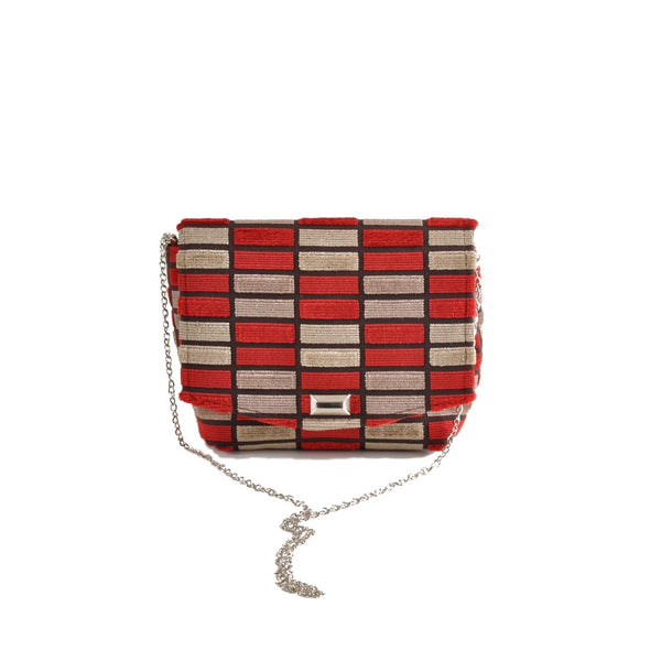 Block Red square clutch