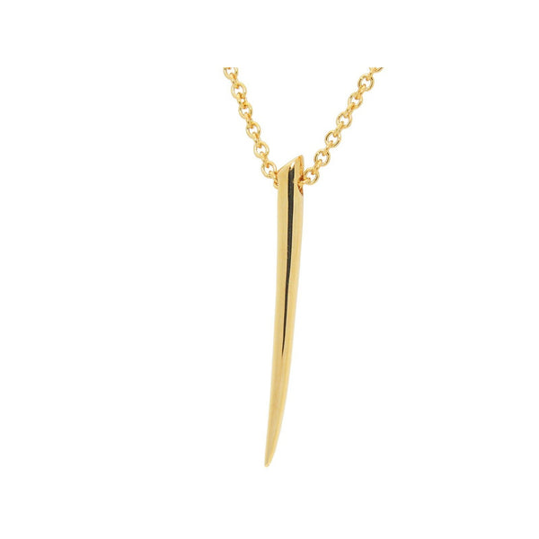 Golden Nail Necklace in Sterling Silver, Length 24 Inches